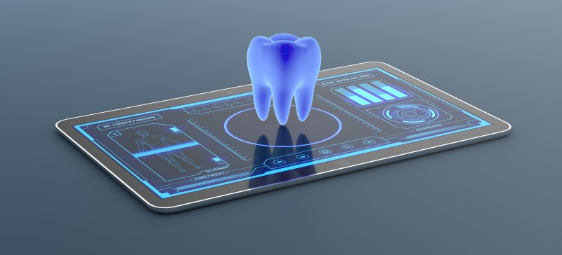 a tooth digitally displayed